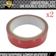 Universal Fitment 3M Double Sided Adhesive Glue Tape With Red Liner 2x Rolls