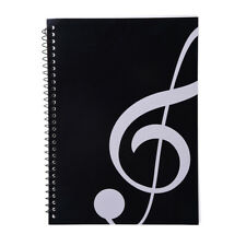50 Pages Music Sheet Spiral Notebook Stave Manuscript Paper Exercise Book Rakish