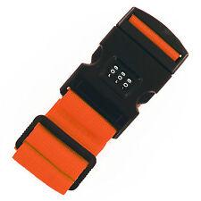 Paquete De 2 Correa Ajustable De Equipaje Maleta Equipaje de Viaje combolock cinturón naranja