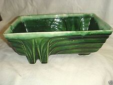 ART DECO Green Drip MID CENTURY ART POTTERY PLANTER # CP4263