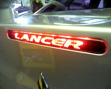 "3rd Brake light cover Decal Fits 2008-2015 Lancer "" you choose text"" Sticker"