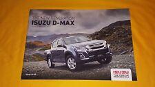 Isuzu D-Max Eiger Yukon Utah Blade Utility sales brochure 2017 MINT D Max pick