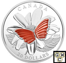 2017 Colourful Wings of a Butterfly with Agate'Prf $20 Fine Silver (NT) (17849)