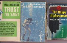 Leslie Charteris SAINT Book Lot—Trust—Overboard—Happy Highwayman