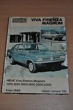 IE Reparaturanleitung RM 131 VIVA FIRENZA MAGNUM 1966 Workshop Manual