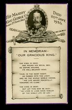 Royalty GEORGE V In Memoriam mourning  PPC