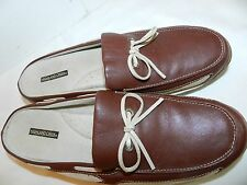 WOMENS BROWN SHOES MULES = HIGHLAND CREEK = SIZE 7.5M NANTUCKET deck style  ss14
