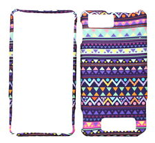 Stylish Tribal Design Rubberized Case for Motorola Droid X MB810 Droid X2 MB870