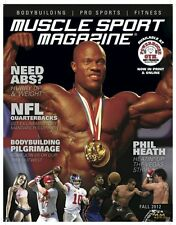 Phil Heath Mr. Olympia MuscleSport Magazine Fall 2012 Inaugural Print Issue NEW