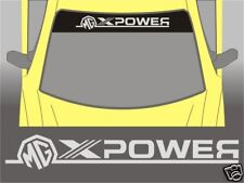 MG XPower Full Sunstrip Sun Strip Sticker ZR