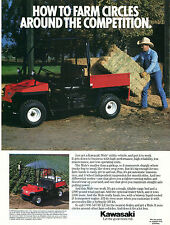 1989 Kawasaki Mule ATV Utility Vehicle Farm Print Ad