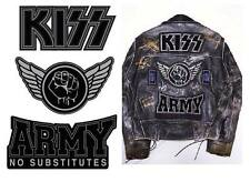 Kiss Set of 3 Iron on Patches    Kiss Army Patches