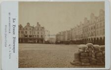 Arras Grande Place Carte de visite Cdv Photo Q. V. Paris Vintage Albumine