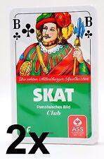 2 ASS Skat Altenburger Skatspiel FRANZÖSISCHES Skatblatt Kartenspiel Spielkarten