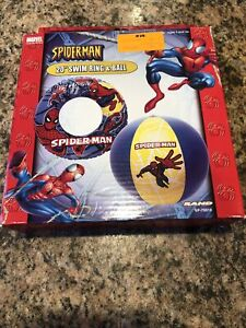 """MARVEL Spider-Man 20"""" Swing Ring & Ball Inflatable. RARE!!!"""