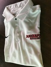 Haverford College Niki Polo Shirt with Baseball Motif-Men's XL