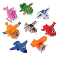 kids 8Pcs Mini Toys Characters TV Animation Super Wings Transforming Plane U87
