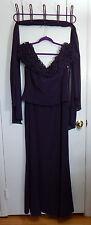 Jovani Dark Plum Off The Shoulder Evening Gown - Women's Size 14 - New