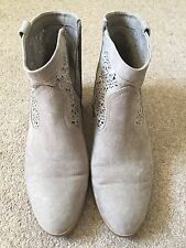 Ladies Size 7 (41) Embellished Grey Ankle boots
