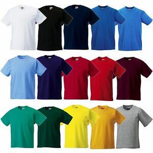 Russell Europe Kinder T-Shirt Baumwolle XS-2XL in 15 Farben R-180B-0 NEU