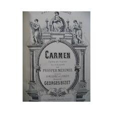 BIZET Georges Carmen Opéra Piano seul XIXe partition sheet music score