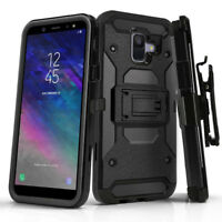 Hybrid Belt Clip Armor Hard Cover Rugged Holster Case For Samsung Galaxy A6 2018