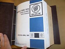 1968 69 1970 71 72-75 Buick Parts Catalog SET_GSX/GS350 400 455/Wildcat/LeSabre