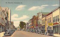 Carbondale, PENNSYLVANIA - Main Street - old cars
