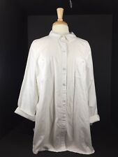 Ladies Juniors Womens Apparel Shirt Top Blouse SZ XXL Old Navy Long Sleeve White