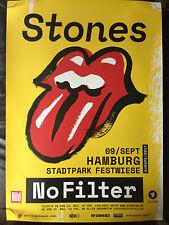 Rolling Stones No Filter Europe 2017 Hamburg Plakat Poster A1, guter Zustand!