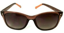 Genuine Fossil 06/S Wrap Gradient Brown Orange 55-18-135 Sunglasses w/ Hard Case