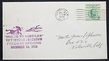 Mules to Ghosts main-tamponnée us Cover victorville Liberty 4c usa lettre (y-359