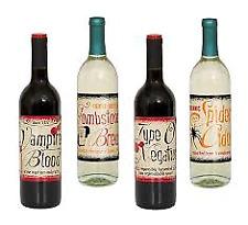 VINTAGE Halloween Vin Bouteille étiquette