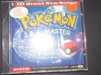 VTG 1998 1999 POKEMON pikachu 2BA MASTER ORIGINAL TV SERIES MUSIC CD SOUNDTRACK~