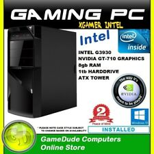 INTEL DUAL CORE 2.9Ghz GAMING PC 8GB ram 1tb HDD GT-710 Graphics Windows 10