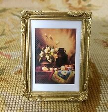 Pat Tyler Artist Made OOAK Fine Art Framed Painting Picture Small 1:12 p632