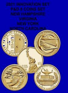 2021American Innovation Dollars Set P&D NH-VA-NY-NC (8) coins