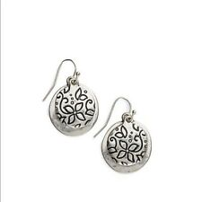 J. Jill - Gorgeous Etched Floral  Drop Earrings  - NWT + Gift Box