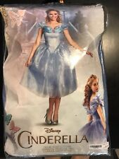 exc Disguise DISNEY CINDERELLA Blue DELUXE ADULT Halloween COSTUME S small 4-6