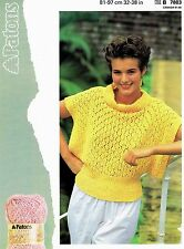 Lady Sweater Jumper Size 81-97cm 32-38in Patons 7883 Vintage Knitting Pattern