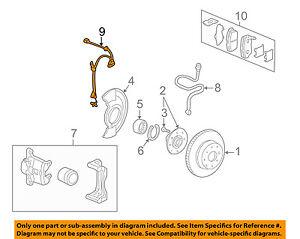 HONDA OEM ABS Anti-lock Brakes-Front Speed Sensor 57450SR3801