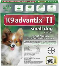 K9 Advantix II 2 for Small Dogs 4-10 Lbs 4 Months Dog