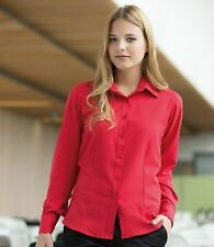 Women's Polyester Classic Collar Business Tops & Shirts