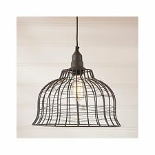 Industrial Cage Pendant Kitchen Light in Smokey Black