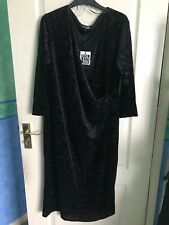 The Collection at Debenhams Size 20 Sparkly Black Velvet Dress BNWT