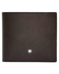 Montblanc Meisterstuck Brown Leather And Viscose Wallet 114549 MSRP $430
