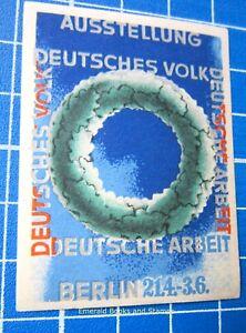 Cinderella/Poster Stamp - GERMANY 1934 - Deutsches Volk u. Arbeit BERLIN - 4483