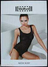 WOLFORD NEON BODY 78264, BODYSUIT, SMALL, in black (7005), New in box