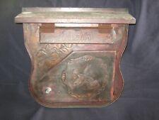 HANDMADE BRASS SADDLE BAG SHAPED WALL MOUNT MAILBOX * LETTER SLOT & HINGED DOOR