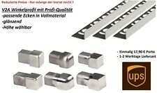 3,96 €/M  Winkelprofil V2A Edelstahl 250cm glänzend Fliesenschiene Winkelschiene